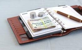 Rupias indianas para o investimento no conceito do fundo de investimento aberto Foto de Stock
