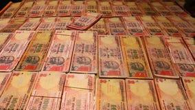 Rupias indias almacen de video