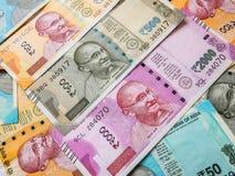 Rupias indias, nuevas notas imágenes de archivo libres de regalías