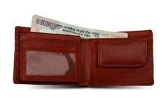 Rupias indias y carpeta foto de archivo libre de regalías