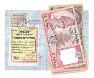 Rupias nepalesas imagem de stock