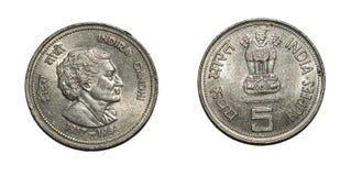 Rupie di moneta India di valuta Fotografie Stock Libere da Diritti