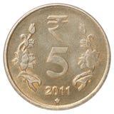 Rupie indiane di moneta Fotografia Stock