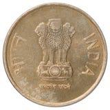 Rupie indiane di moneta Immagini Stock Libere da Diritti