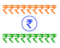 Rupie-Markierungsfahne Stockfoto