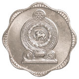 10-Rupien-Cent-Münze Sri Lankan Lizenzfreies Stockfoto