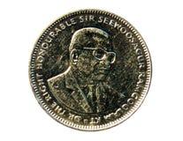 1-Rupien-Münze Bank von Mauritius Heben Sie, 2012 auf Lizenzfreies Stockfoto