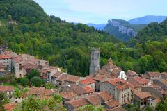 Rupit, Catalonia, Spain Stock Image