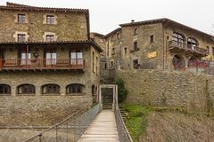 Historic center of Rupit, Catalonia royalty free stock photography