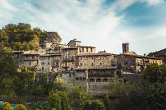 Rupit i Pruit - Medieval Catalan village, Spain Royalty Free Stock Photography