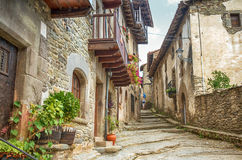 Rupit, medieval spanish village Stock Photos