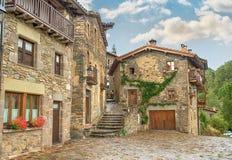 Rupit, medieval spanish village Stock Photo