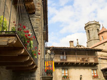 Rupit town in Spain Stock Images
