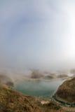 Rupite, Bulgaria, a hot spring in winter Stock Photos