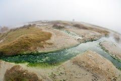 Rupite Bulgarien, varmvatten Arkivbilder