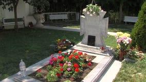 Rupite. The grave of Vanga, Bulgaria stock video footage