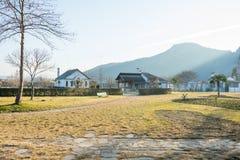 Rupite komplex i Bulgarien Arkivfoto