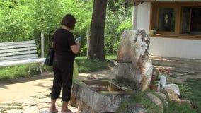 Rupite. Near the holy spring, Bulgaria stock video