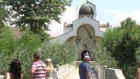 Rupite. Temple of Saint Petka, Bulgaria stock video
