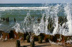 Rupteurs d'océan image stock