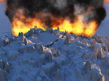 Éruption de volcan Photo libre de droits