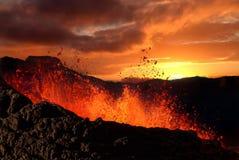 Éruption de volcan Photographie stock