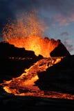 Éruption de volcan Photos stock