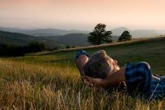 A ruptura calma e relaxa Fotografia de Stock Royalty Free