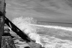Ruptura da onda de Cromer Fotografia de Stock Royalty Free