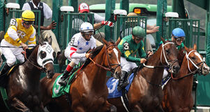 Ruptura da porta da raça da permissão Imagem de Stock