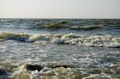 Ruptura das ondas na costa fotos de stock