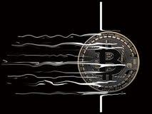 Ruptura de Bitcoin completamente Fotografia de Stock Royalty Free