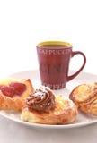 Ruptura de café com pastelaria Foto de Stock