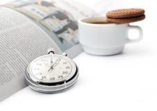 Ruptura de café curta fotografia de stock