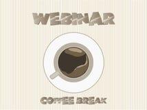Ruptura de café de Webinar, vetor Fotografia de Stock