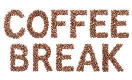 Ruptura de café dos feijões de café Fotografia de Stock Royalty Free