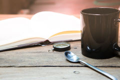 A ruptura de café e relaxa o tempo Foto de Stock Royalty Free
