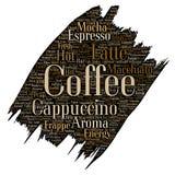 Ruptura de café italiana da manhã de Vectorhot, cappuccino Foto de Stock Royalty Free