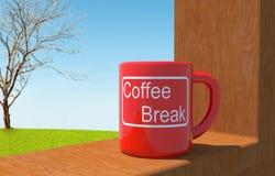 Ruptura de café no escritório Ilustração Stock