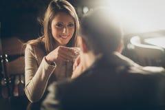 Ruptura de café romântica Imagem de Stock Royalty Free
