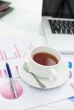Ruptura de chá fotografia de stock royalty free