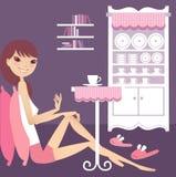 Ruptura de chá ilustração royalty free