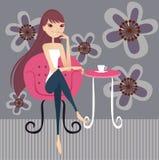 Ruptura de chá ilustração stock