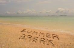 Ruptura de verão foto de stock