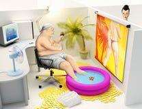 Ruptura engraçada no escritório Fotografia de Stock