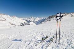 Ruptura na inclinação do esqui Imagem de Stock Royalty Free