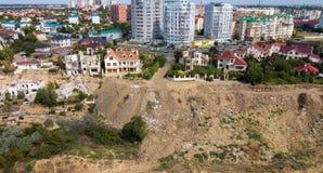 Ruptura na terra após um terremoto imagens de stock
