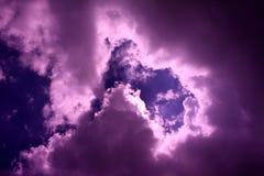 Ruptura nas nuvens Fotografia de Stock