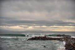 Ruptura nas nuvens entre chuveiros de chuva Imagens de Stock