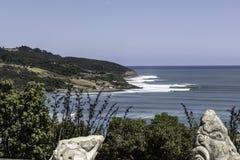 Rupturas do ponto do Raglan, NZ fotos de stock